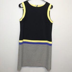 Tahari | Sleeveless Shift Dress Block Color